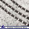 Sandstone Diamond Wire for Quarry with 40PCS Diamond Beads Per Meter