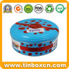 Round Biscuit Tin Can Cookie Metal Box with Food Grade