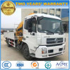 Dongfeng 4*2 LHD HD 180HP Hydraulic Truck Mounted Foldable Arm Crane Truck