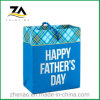 Customized Happy Father' Day Gift Bag Shopping Packaging Paper Bag