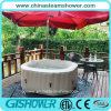 4 Person Bubble Massage Inflatable Hot Tub (pH050013-N Coffee)