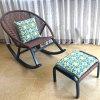 Patio Garden Unfold Swing Rocking Rattan Chair