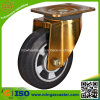 Heavy Duty Yellow Zinc Housing Elastic Rubber Wheel