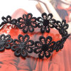 Black White Handmade Crochet Lace Flowers Choker Necklace for Women