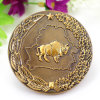 Gold Plated Enamel Novelty Gift with Animal Abstract Sculpture Coins