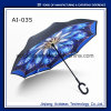 Gwp Custom Printing C Handle Double Layer Fashion Reverse Promotional Umbrella
