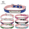Adjustable Qualified Pet Dog Collar with Sliver Metal ID Tag