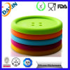 Button Shape Silicone Coffee Cup Mat