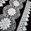 Hm Lace Scalloped Trim Lace Offwhite Flower Lace Trimming for Wedding