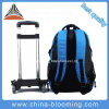 Leisure Waterproof Nylon Rolling Backpack Trolley School Bag Backpack
