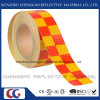 PVC Yellow and Red Chequer Safety Warning Reflective Tape (C3500-G)