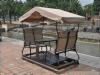 Recreational 4-Seats Half Aluminium Half Iron Outdoor Swing