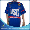 Custom Sublimation Men′s Pit Crew Racing Shirts