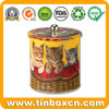 Metal Cat Biscuit Cookies Tin for Pet Food Packaging Box