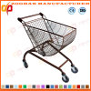 High Quality Arc Shape Metal Supermarket Shopping Cart Trolley (ZHt283)