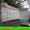 Custom Fabric Portable Modular L Shape Curved Exhibition Backdrop Display