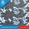 Black Chemical Lace Fabric with Flower Border