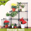 6 Cubes Home Shelf DIY Stacking Storage Metal Rack