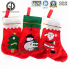 2016 High Quality Sock Bag Flannelette Christmas Bag with Embroidery Logo