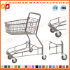 Wire Metal Supermarket Shopping Carts Trolley (ZHt252)