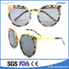 Flower Colorful Hand Made Plastic Fashion Sunglasses for Lady