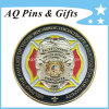 Challenge Coin with Soft Enamel in Gold Plating, Millitary Coin