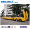 100t China Flexible Cargo Vehicle Crane Lowbed Trailer