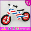 New Design with CE 12 Inch Wooden Bicycle for Kids, Classic Balance Bike Ride on Play Set, Bottom Price Cheap Kids Bicycle W16c118