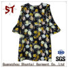 Sweet Polyester Girls Flower Pattern Dress