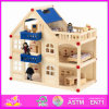 2014 Fashion New Baby Toy, Luxury Large Children Toy Wooden Dollhouse, Colorful Kids Toy Quality Play Wooden Dollhouse W06A050