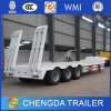 Tri-Axle 60 Tons Heavy Excvator Tansport Gooseneck Low Bed Trailer