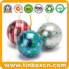 Metal Gift Christmas Ball Tin for Chocolate Candy Cookies
