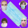 Protective 3ply Earloop/Paper/Lab/Safety 3-Ply Nonwoven Disposable PP Face Mask with Elastic Ear-Loop/Tie-on