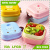 Cartoon Cute Bear Lunch Box Food Container Storage Portable Bento Spoon School