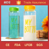 Modern Insulated Glass Water Bottle Logo with Metal Cover
