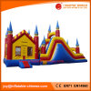 Inflatable Jumping Moonwalk Castle with Slider (T3-208)