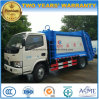 6 Wheels 90 HP Small 5 Tons Garbage Compress and Transport Truck for Sale