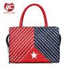 2019 Newest PU Leather Ladies Tote Bag Printed Stripe Designer Bag