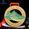 OEM Supply Custom High Quality Olympics Sports Winners Award Medallion Football Competition Metal Medal for Souvenir Gifts (MD12-A)