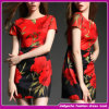 Sexy Lady Summer Red Korean Fashion Dresses 2015 Sundress (DEFR01)