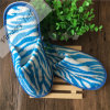 Disposable Blue and White Coral Fleece Hotel Slipper/Hotel Amenity Slipper