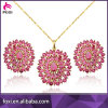China Factory Direct Wholesale Cubic Zircon Pendant Eearring Set