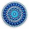High Quality Cotton Round Beach Towel, Printing Design