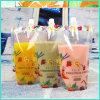 Transparent Plastic Standing up Spout Pouch Bags/Flexible Packaging Food Grade Bags