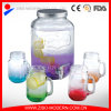2016 New Color Glass Beverage Dispenser Jar 4PC Glass