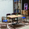 Wholesale Wooden Restaurant Furniture Set with Royal Blue Armchair (SP-CT789)