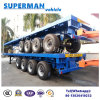 Heavy Duty 80t Flatbed Cargo Transport Semi Truck Trailer