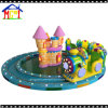 Green Little Train with Yellow Castle Kids Fun Rides