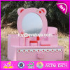 New Design Lovely Pink Girls Wooden Toy Dressing Table W08h077