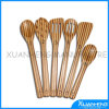 Two Colours Natural Solid Bamboo Spoon Spatula Set